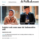 Listen to Indonesians – Volkskrant