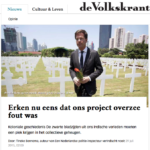 Collective memory – Volkskrant