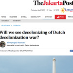 Decolonizing the war – Jakarta Post