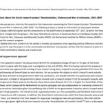 Keberatan terhadap penelitian Belanda – surat terbuka