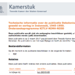 Information about research 45-49 – Dutch government