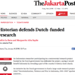 Historian defends Dutch-funded research – The Jakarta Post