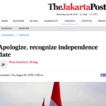 Apologize, recognize independence date – the Jakarta Post