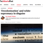 Decolonization and white Supremacy – The Jakarta Post