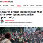 """Dutch Research: """"Ignorance and lost opportunity"""" – The Jakarta Post"""