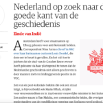 The Netherlands is looking for the good side of history – NRC