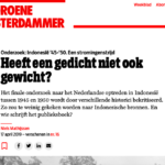 Doesn't a poem have weight too? – De Groene Amsterdammer