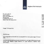 Dutch ambassador Lambert Grijns forwards letter to the King