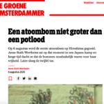 Een atoombom niet groter dan een potlood – De Groene Amsterdammer