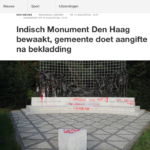 The defacing of the Indies Monument The Hague – NOS