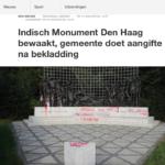 Indisch Monument Den Haag beklad – NOS