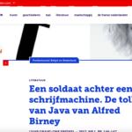 'De tolk van Java' van Alfred Birney – Ons Erfdeel