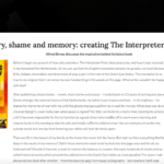 History, shame and memory: creating The Interpreter from Java