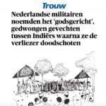 Dutch soldiers organized forced fights between Indonesians – Trouw