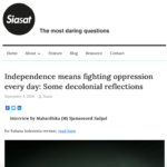 Independence means fighting oppression every day – Siasat