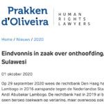 Eindvonnis onthoofdingszaak Zuid-Sulawesi – Prakken d' Oliveira