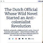 The Dutch Official Who Started an Anti-colonialist Revolution – Haaretz