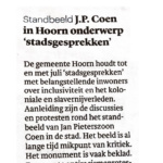 Talks about Statue Jan Pieterszoon Coen – Trouw