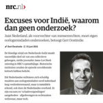 Apologies but why no research? – NRC