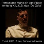 Pernyataan Marjolein van Pagee tentang De Oost dan KUKB