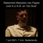 Marjolein van Pagee over K.U.K.B. en de film De Oost