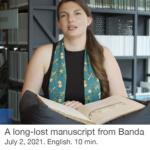 A long-lost manuscript from Banda 1922 – Scheepvaartmuseum