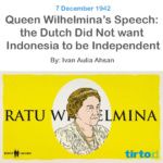 Queen Wilhelmina's Speech – Tirto